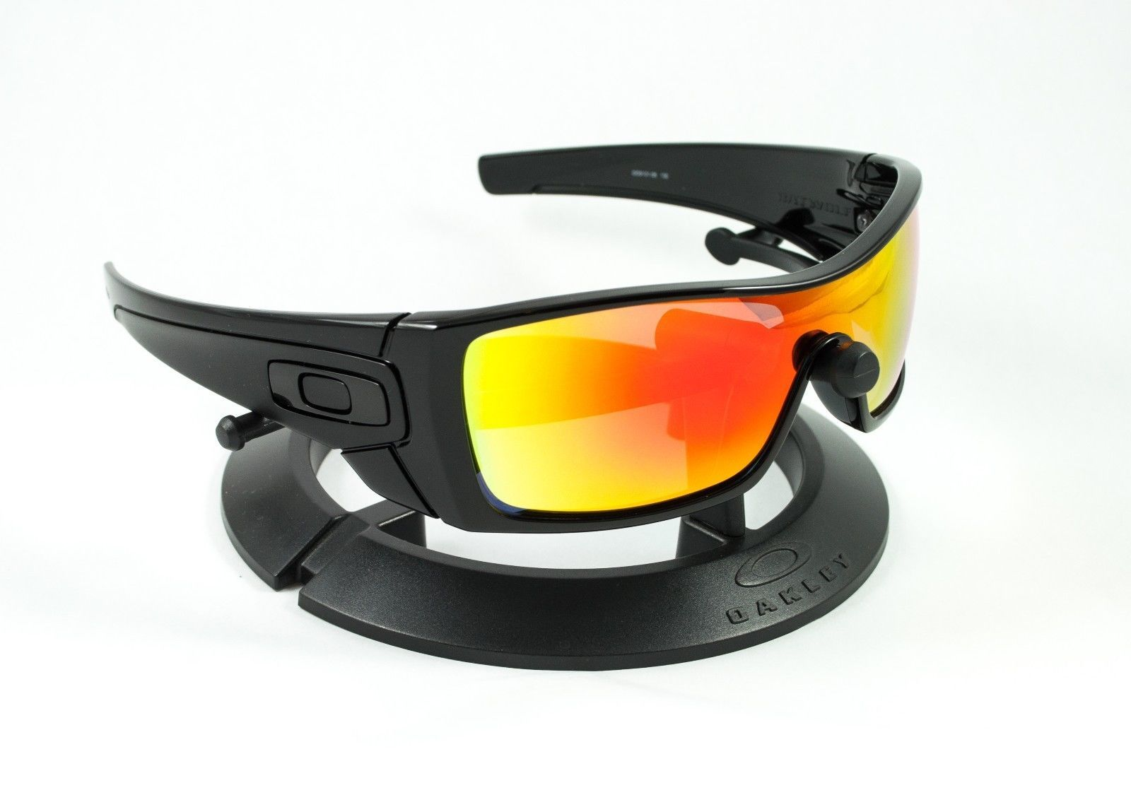 OAKLEY BATWOLF POLISHED BLACK FRAME & REVANT FIRE RED POLARIZED ...