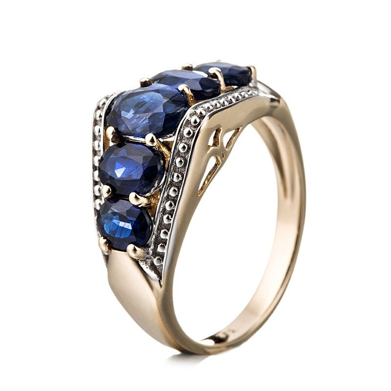 bague pour femme sertie de kyanites bleue marine bijou. Black Bedroom Furniture Sets. Home Design Ideas