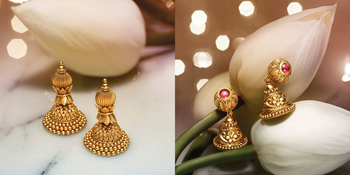 Tanishq Divyam Jewellery - Earrings(6) | Antic gold | Pinterest ...