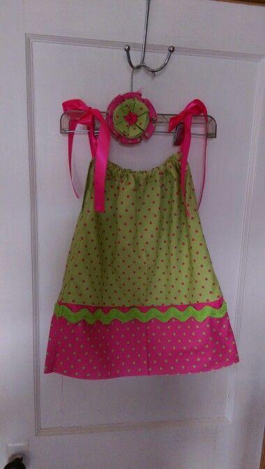 Pillowcase dress with matching headband :)