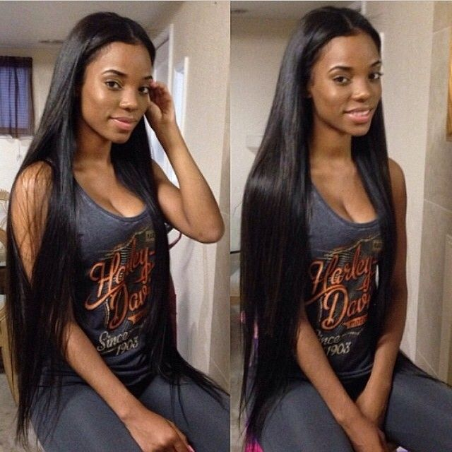 Black human hair extensions 10 30 silky straight hair weaving unprocessed top quality real human hair remy hair pmusecretfo Gallery