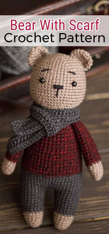 Free Crochet Bear Patterns – Amigurumi Patterns #teddybearpatterns