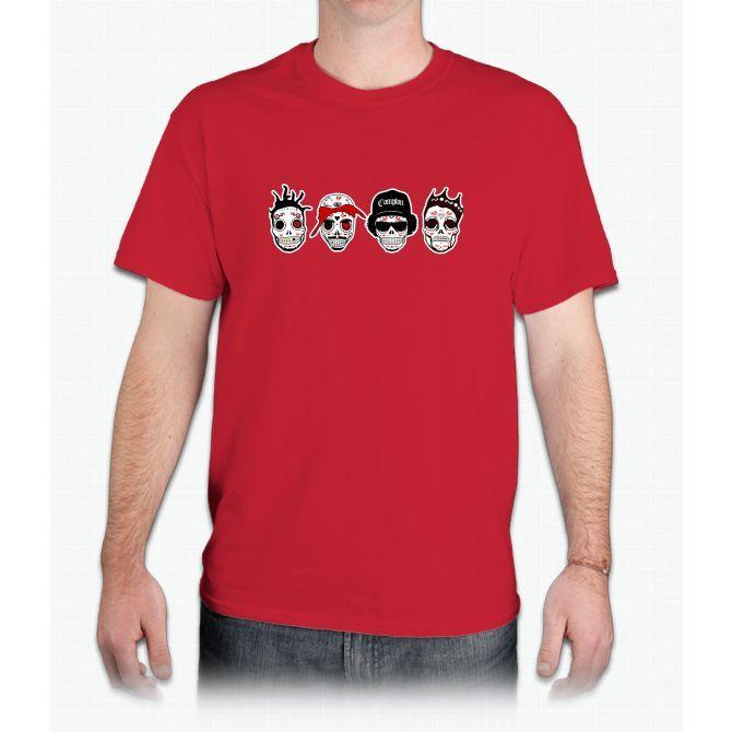RIP MCs - Gangsta Rapper Sugar Skulls - Mens T-Shirt