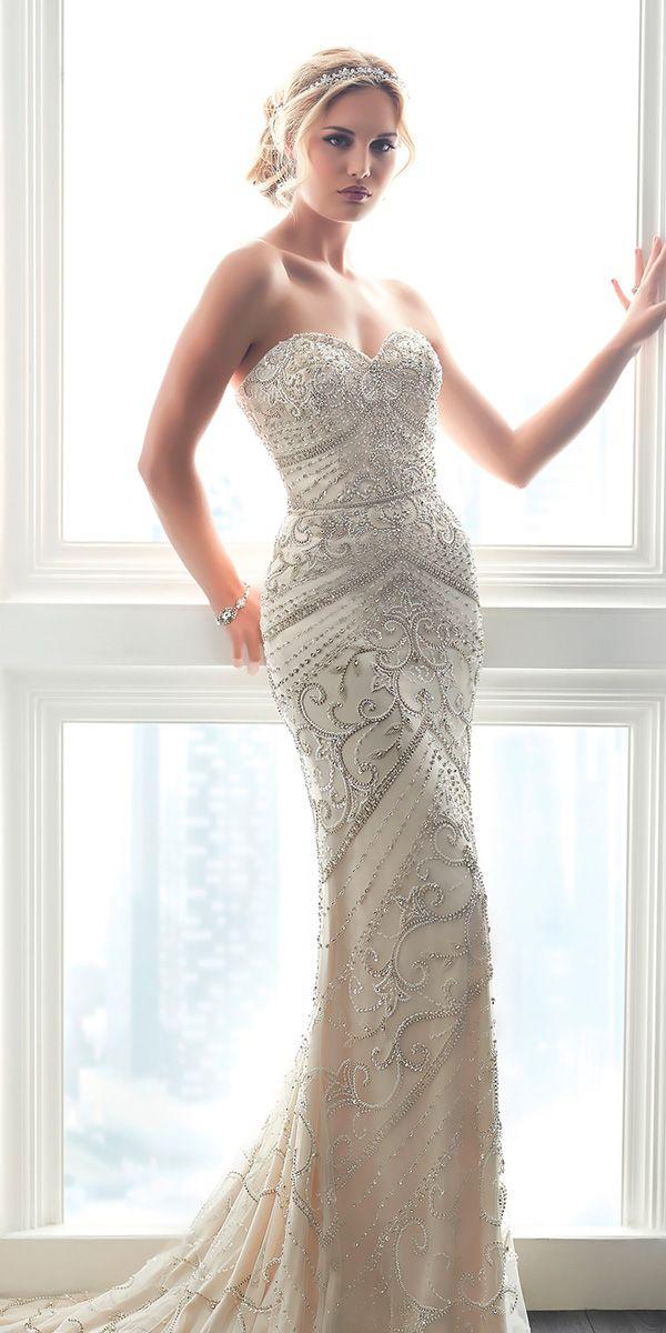 15 Unforgettable Sheath Wedding Dresses For Ideal Celebration ...