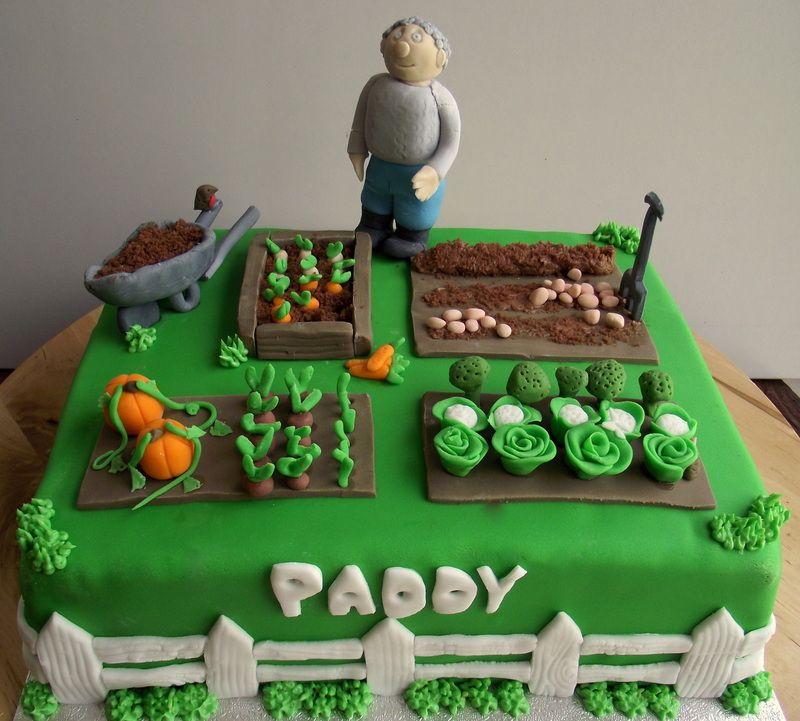 Vegetable garden cake cakes and cupcakes pinterest for Garden theme cake designs