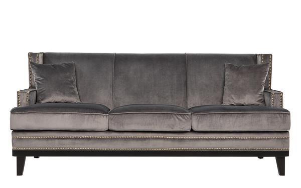 Old Hollywood Nailhead Trim Velvet Sofa
