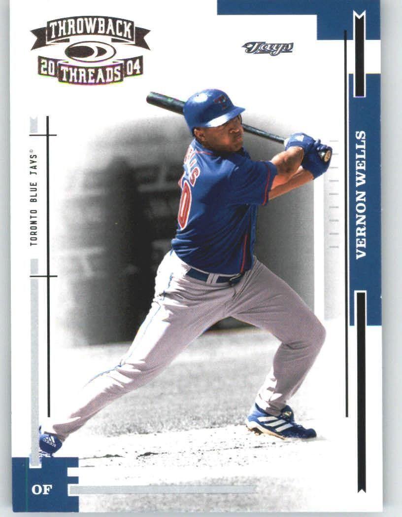 2004 Donruss Throwback Threads 200 Vernon Wells Toronto Blue Jays Baseball Cards Check Th Blue Jays Baseball Toronto Blue Jays Baseball Toronto Blue Jays