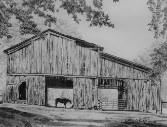 Nina Smelcers Barn By Amy Reagan Drawing Art Realism Horse