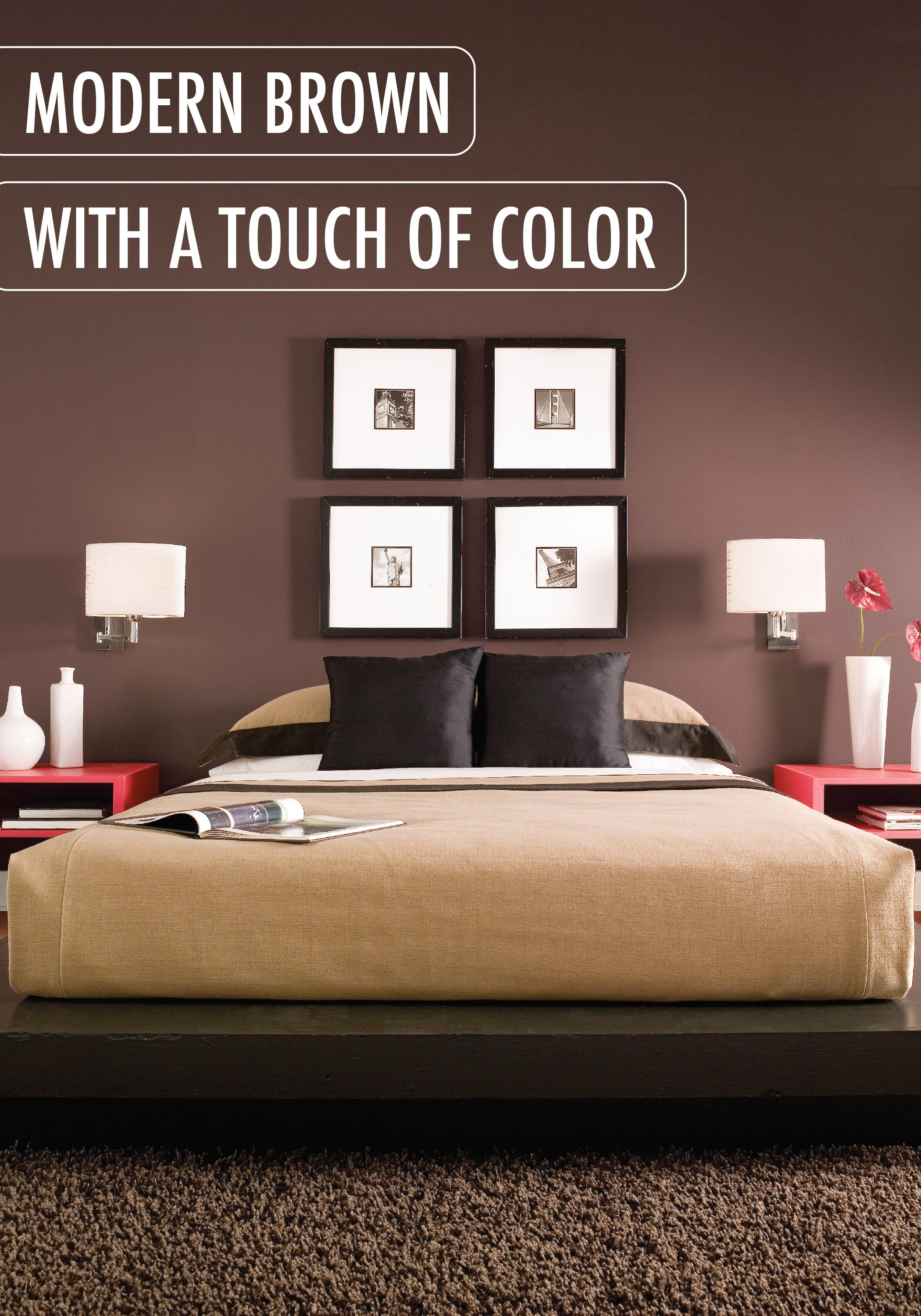 Love this rich, chocolaty paint color? Update your modern ...