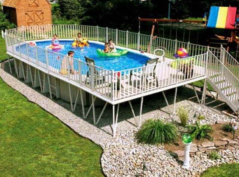 Best Above Ground Swimming Pool Kids Paradise Ideas Best Above Ground Pool Above Ground Pool Landscaping Backyard Pool Landscaping