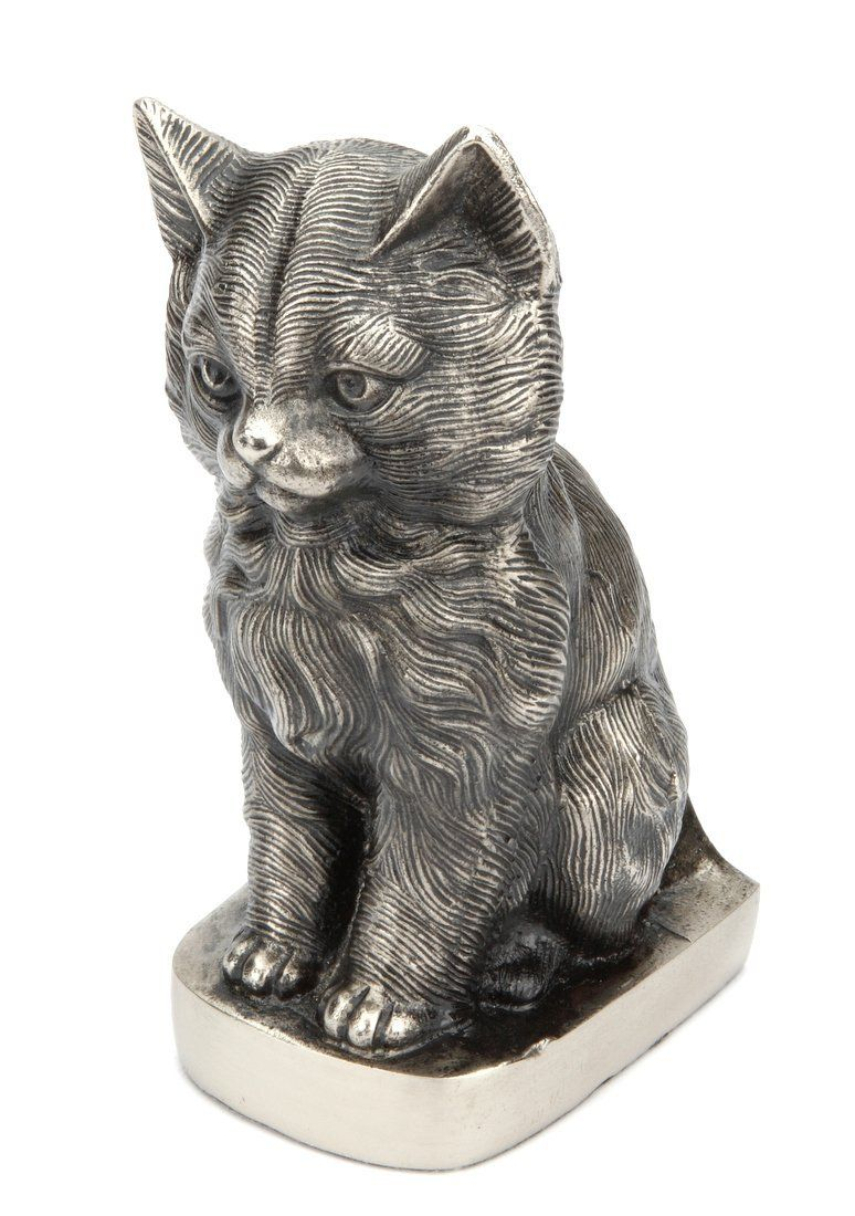 Urns UK Sitting Sweet Cat Urn, Antique Silver For more