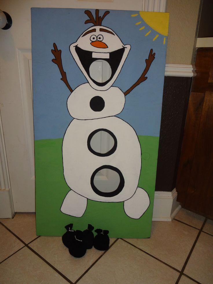 Enjoyable Pinner Disney Frozen 3 Ft Olaf Bean Bag Toss Easy Diy Bags Machost Co Dining Chair Design Ideas Machostcouk