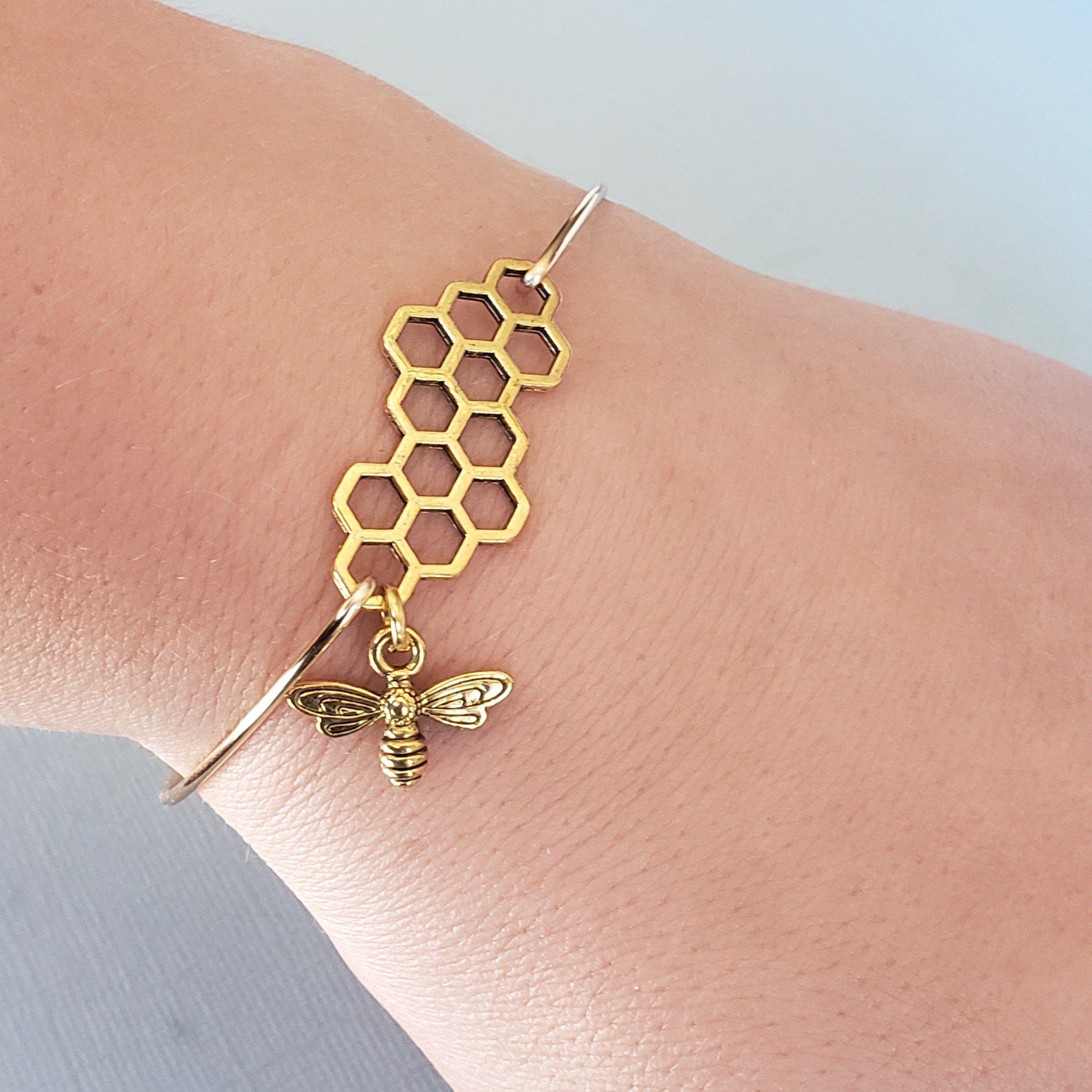 Gold Bumble Bee Bangle