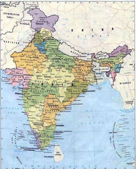 Political map india maps pinterest india india country and political map india gumiabroncs Image collections