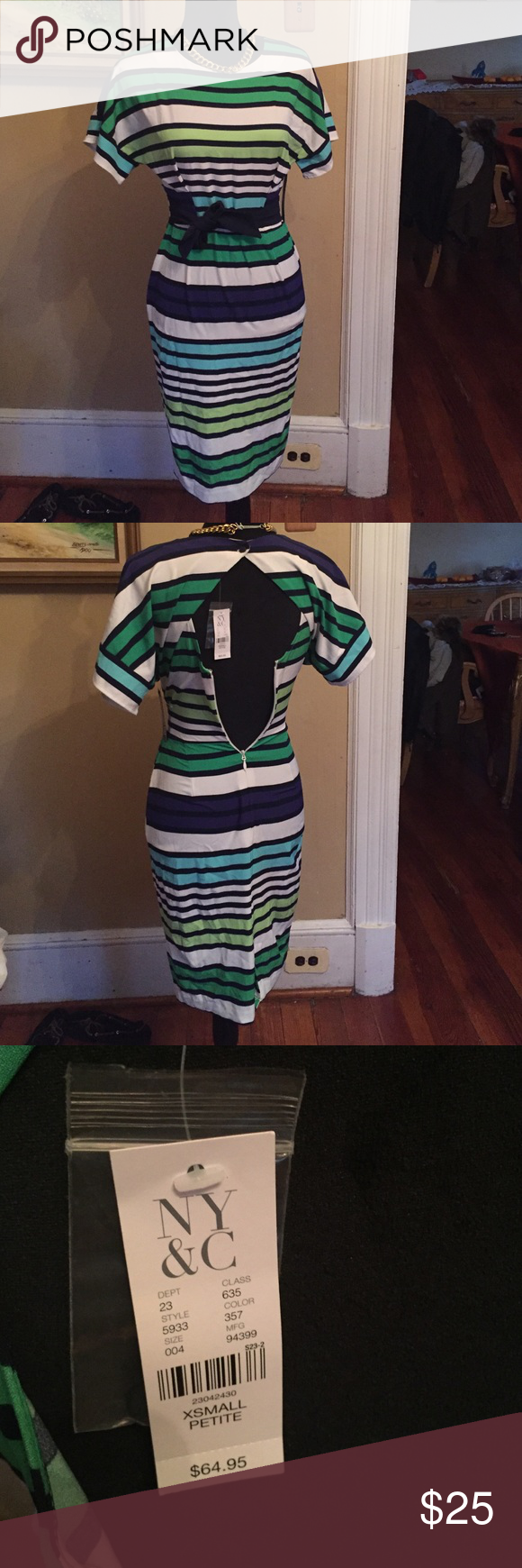 New York and company nwt ! Gorgeous New York and company dress with open back ! Zipper does work but since it is a size petite extra small won't zipper on my mannequin but zipper is in perfect condition New york and Compny  Dresses Midi