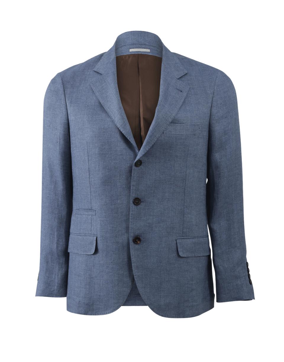BRUNELLO CUCINELLI Chambray Herringbone Jacket. #brunellocucinelli #cloth #jacket