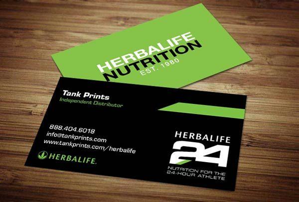 Design De Carte Visite Par Sandaruwan Pour Herbalife Nutrition Green Business Goals Card Templates Cards