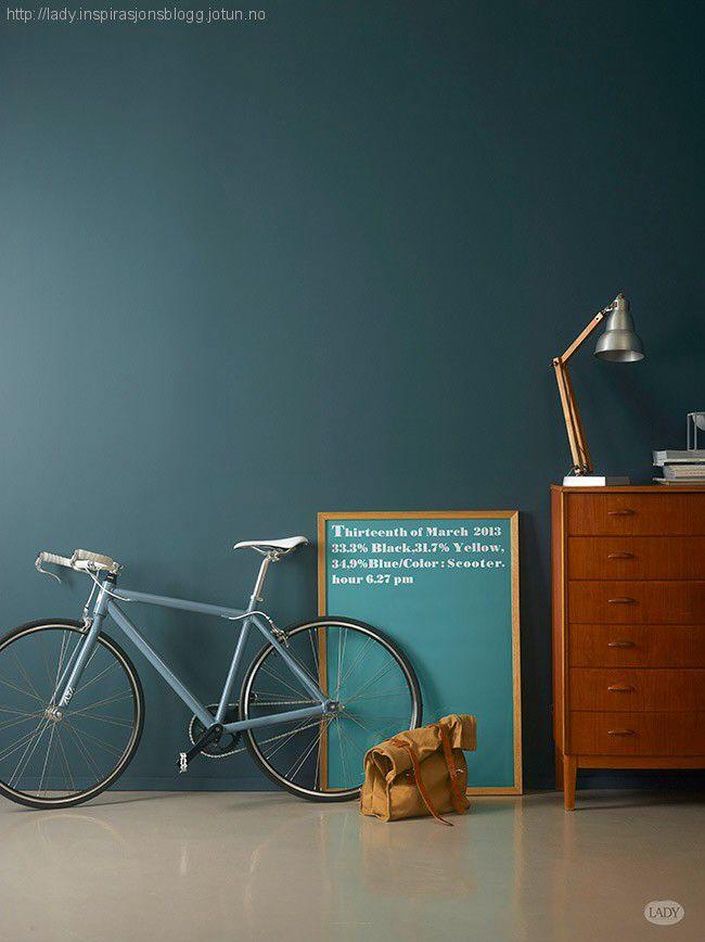 wand #grün #petrol Inspiration Lebensräume Pinterest - wandfarbe petrol