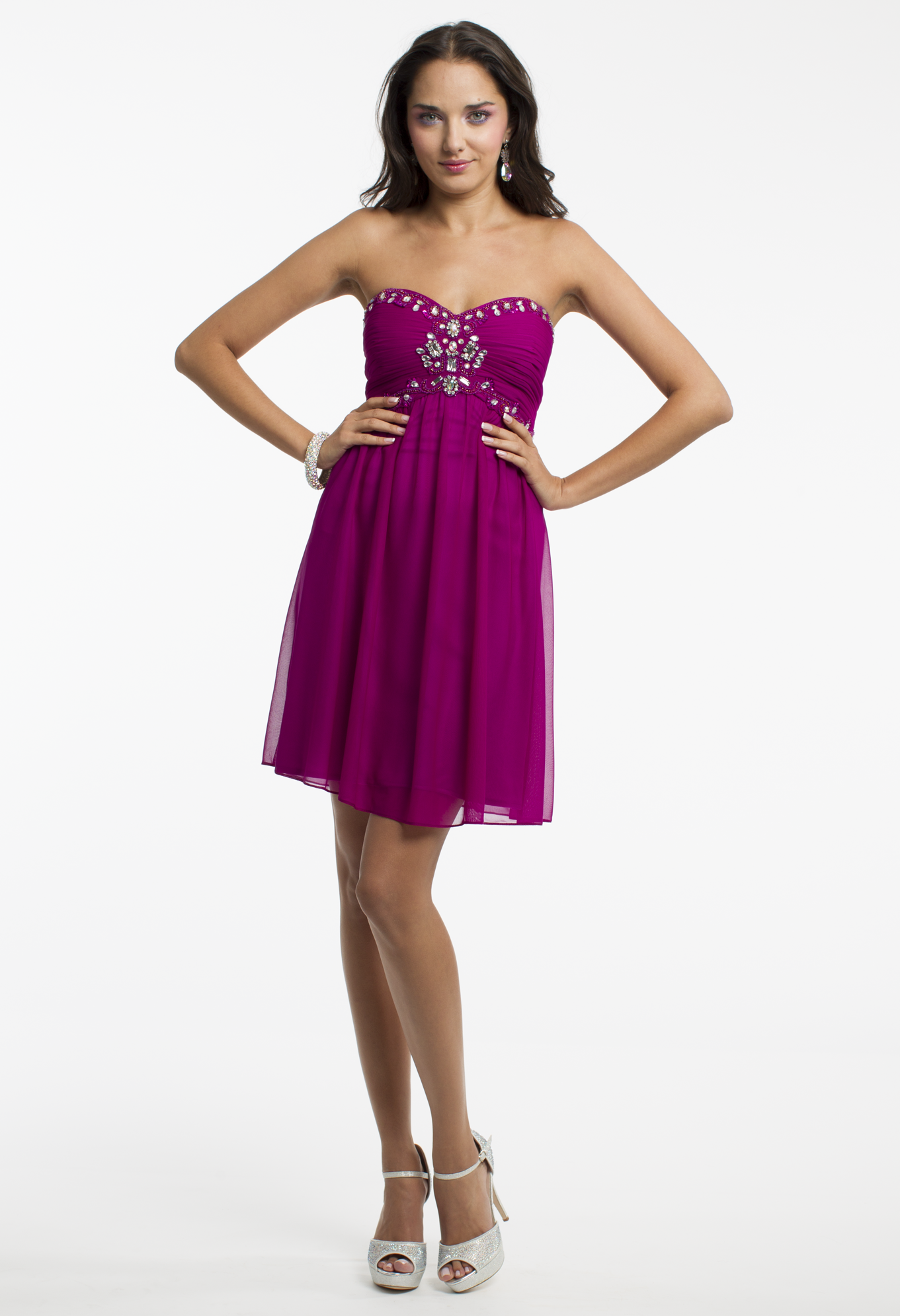 Strapless Beaded Short Dress by Camille La Vie & Group USA | Prom ...