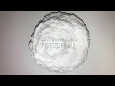 how to make cloud slime without snow powder ! diy slimeshow to make cloud slime without snow powder !