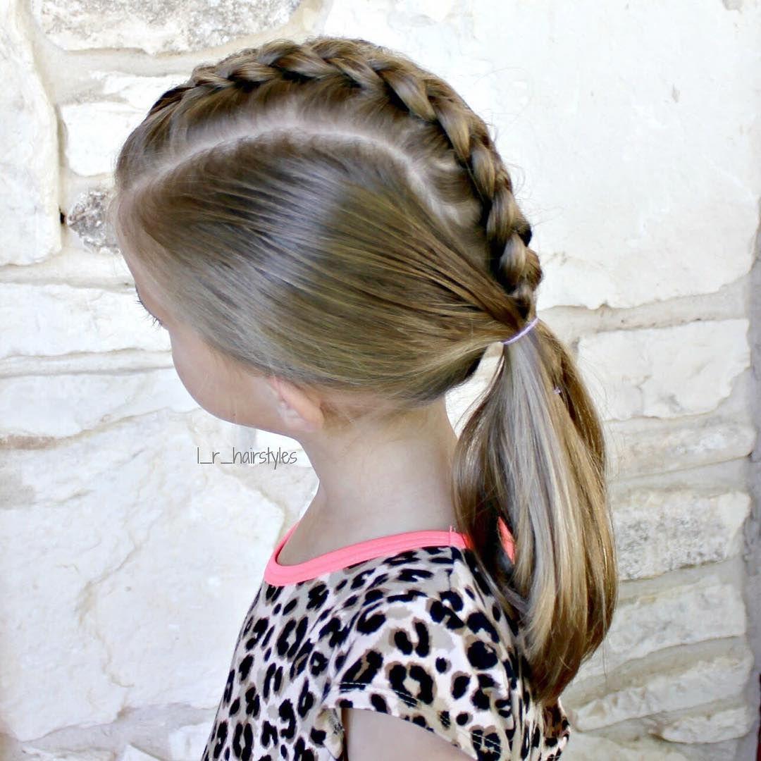 Inspired By Tinkerbeanpoplettes Hairdesign Dutch Braid Down The Middle Into A Low Pony Hairinspiration Hairstylesforgirls Hairstylesforlittlegirls