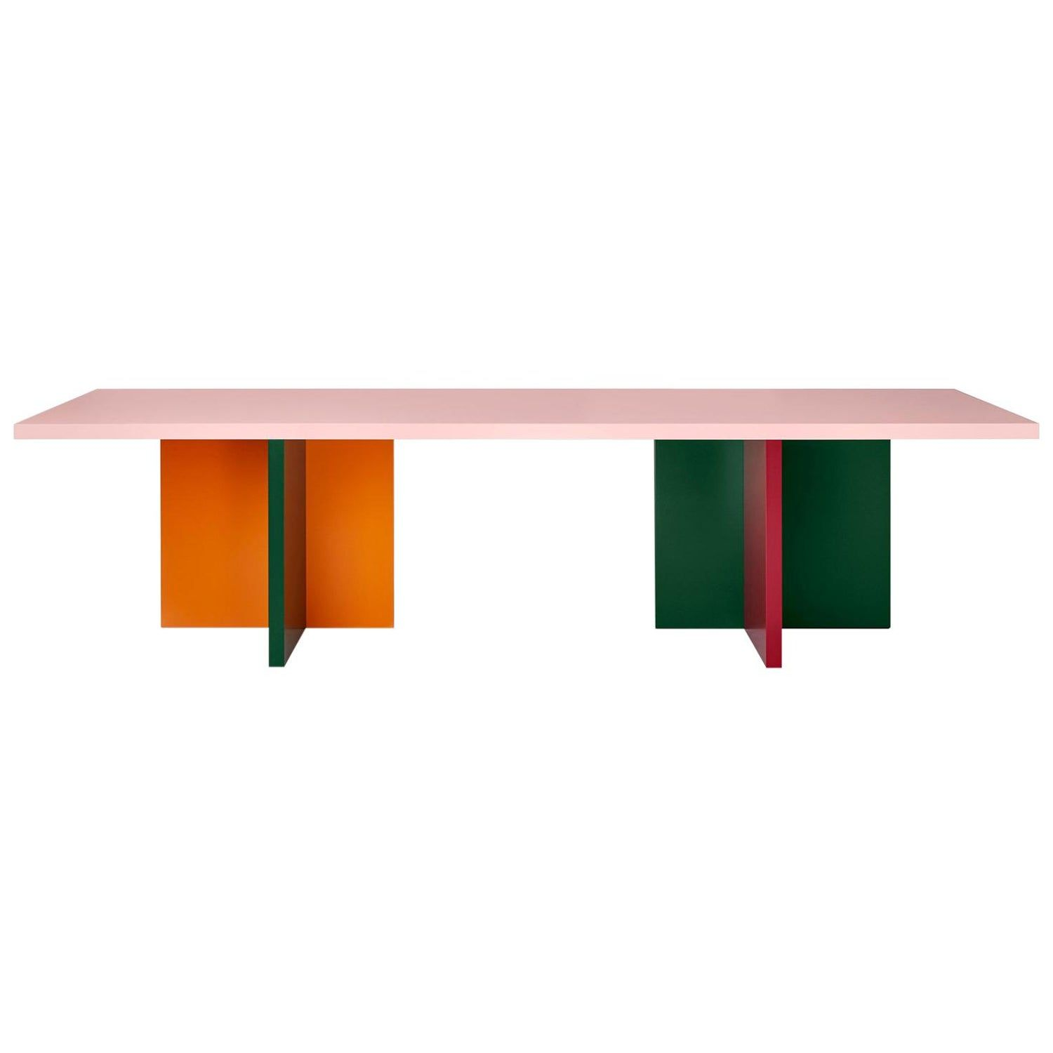 Color Blocked Lacquered 10 Foot Mdf Abbondio Dining Or Conference Table With Images Conference Table Vintage Conference Table Modern Dining Room Tables