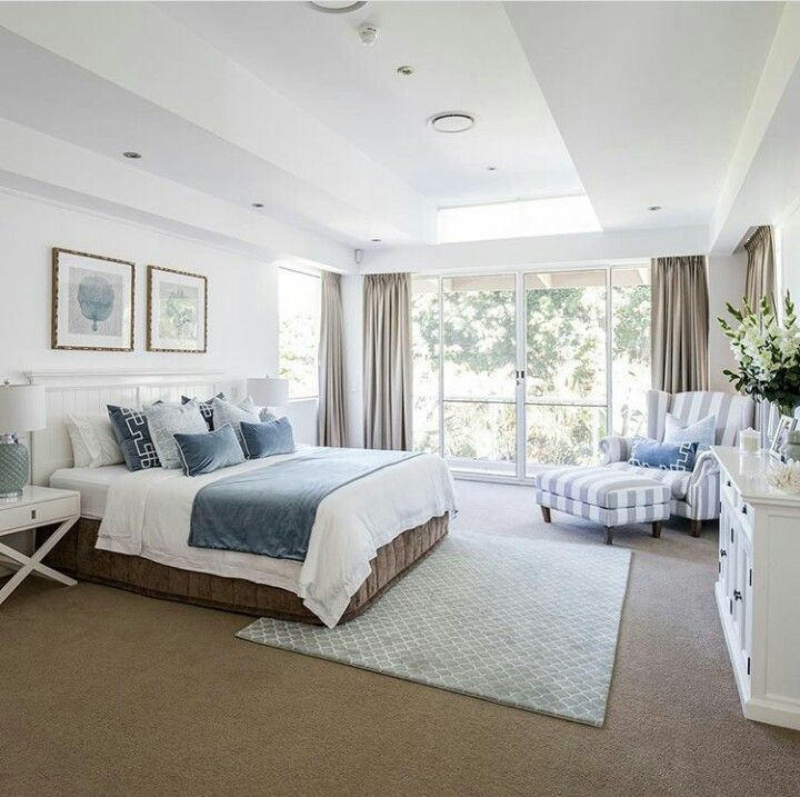 How lovely is this master bedroom Sharing