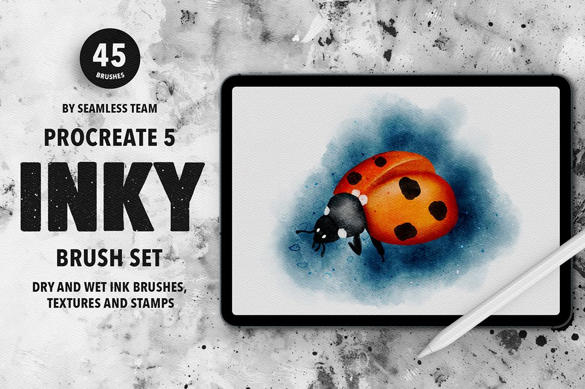 Ink Brushes for Procreate 5 #Ad , #ADVERTISEMENT, #ad, #Procreate, #Brushes, #Ink