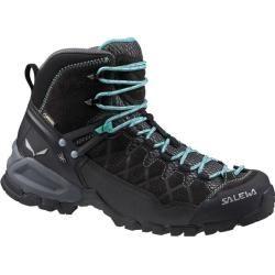 Salewa Damen Trekkingschuhe Alp Trainer Mid Gtx, Größe 38 ½ in Black Out/Agata, Größe 38 ½ in Black