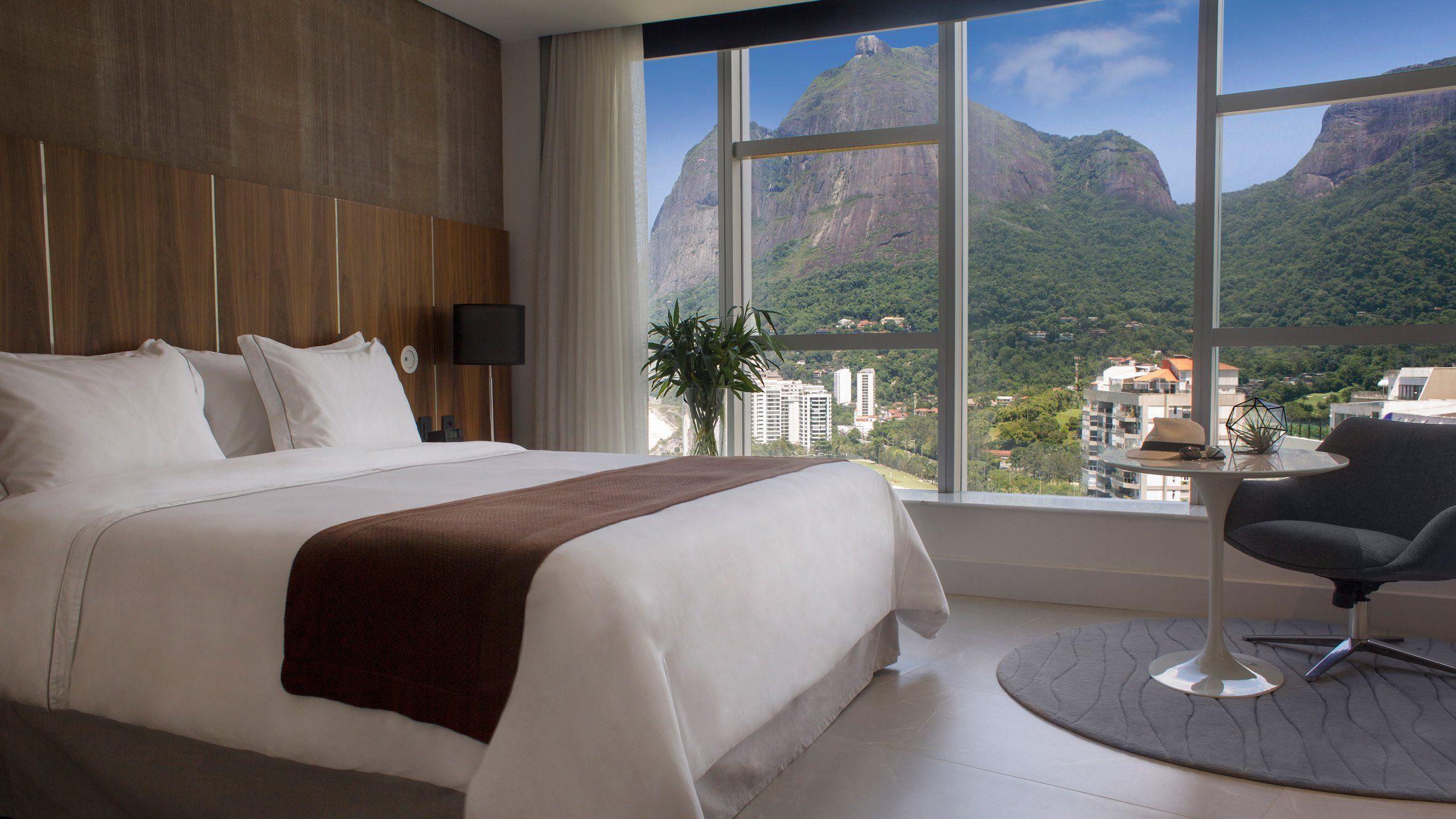 Oscar Niemeyer's recently reopened Hotel Nacional in Rio de Janeiro features reworked interiors by Brazilian firm Debora Aguiar Arquitectos and US practice Studio VOA.