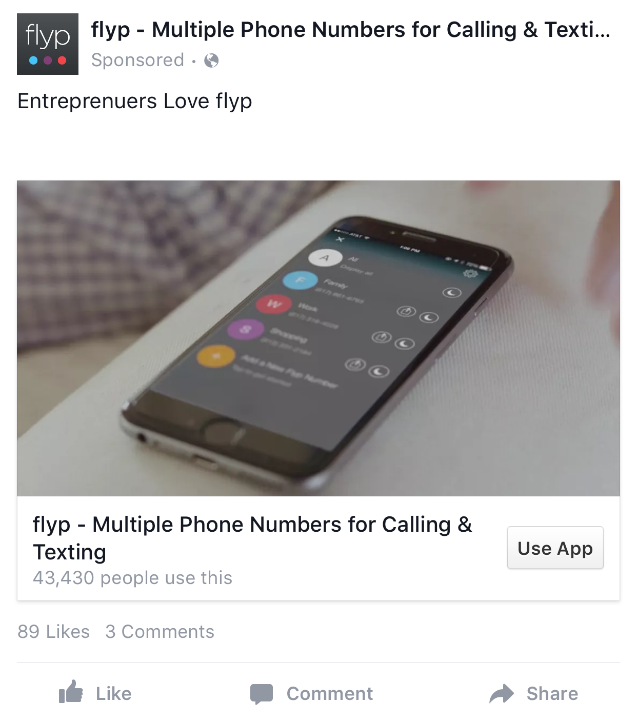 Facebook App Install Ad Examples