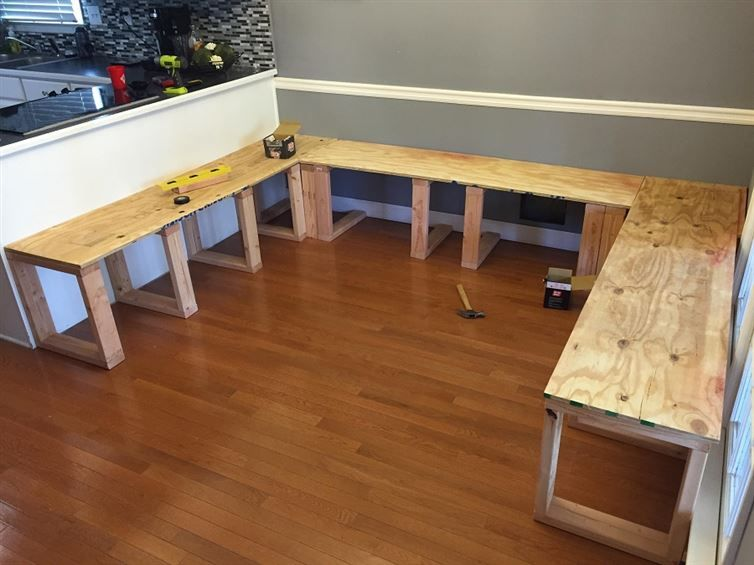 He Got Rid Of His Dining Room Table! What He Built In Its Place? Youll Be Amazed