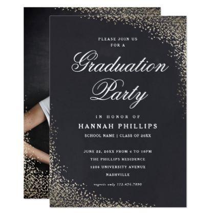 Confetti photo graduation party invitation stopboris Images