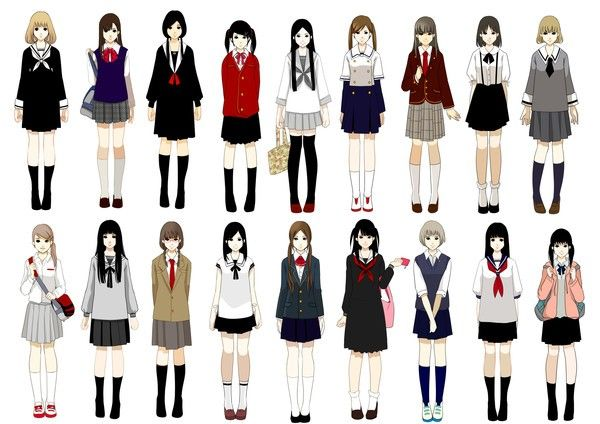 School Uniforms For Girl School Uniforms Design Shirt Skirt School Uniform Anime Anime Uniform Anime Outfits