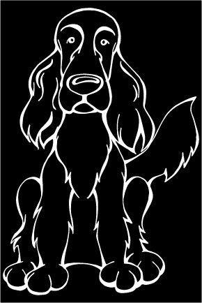 Irish Setter Decal Dog