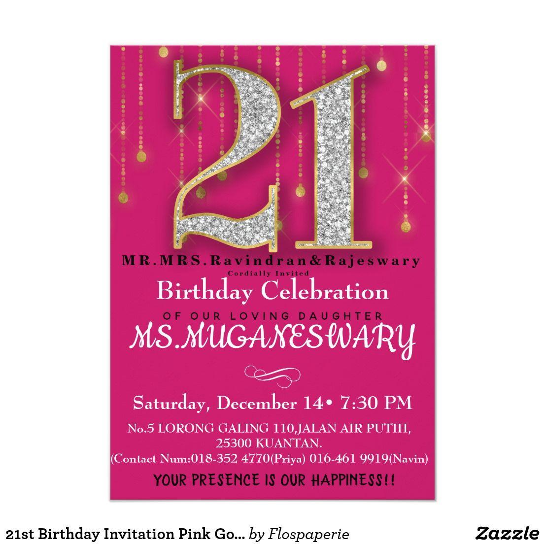 Create your own Invitation 21st birthday