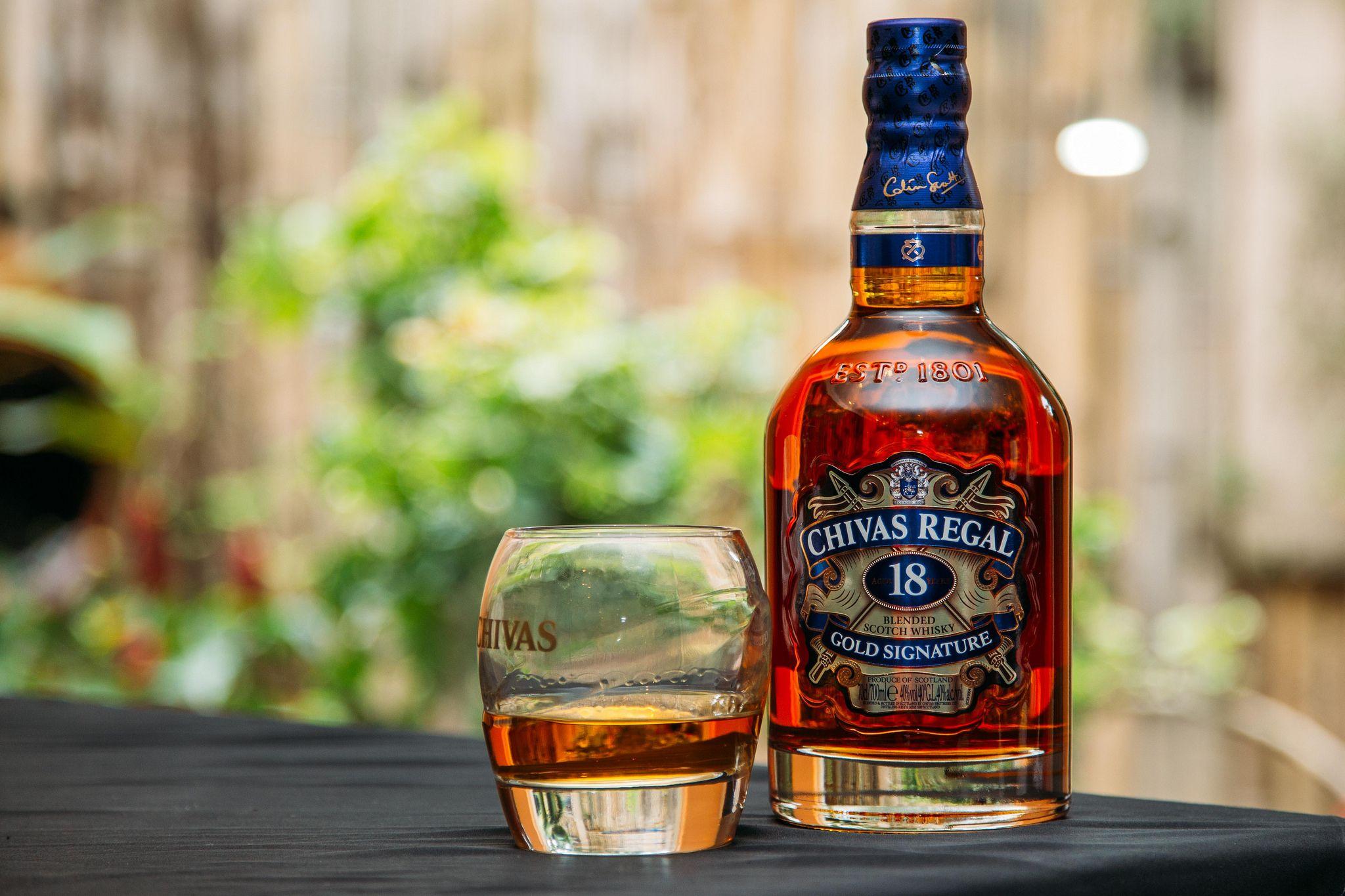 Chivas Regal Explored Whiskey Whisky Beer Bottle
