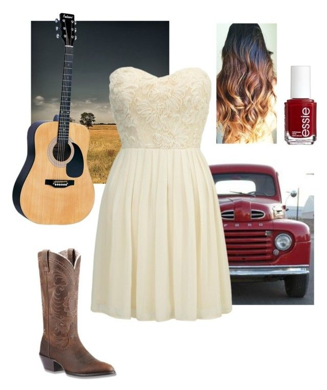 """""""Take Me Home, Country Roads"""" by gunpowderprincess ❤ liked on Polyvore featuring Ariat, Lipsy, Essie, country, women's clothing, women, female, woman, misses and juniors"""