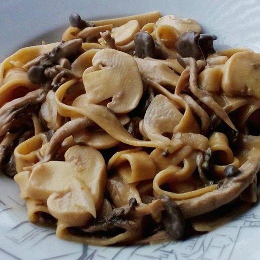 Pasta caseira - shimeji - champignon - segredinho