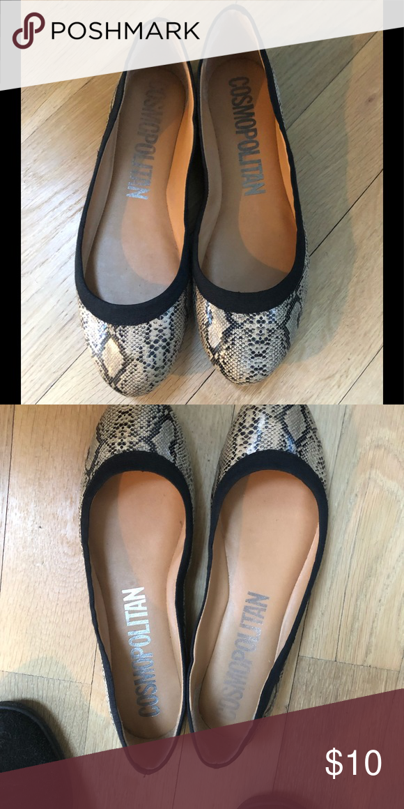 0996571b68218 Cosmopolitan flats In good condition  animal print Cosmopolitan Shoes Flats    Loafers