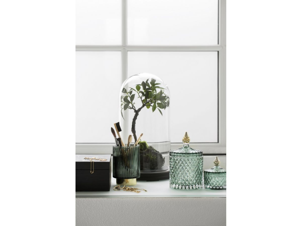 Pojemnik Z Pokrywka Miya O9x11 Cm Transparentny Zielony Lene Bjerre Sfmeble Pl Home Decor Decor Home