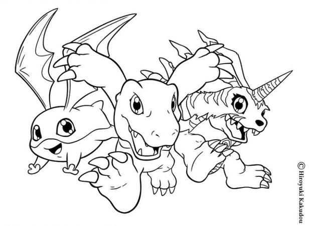Digimon Heroes Coloring Page More Digimon Coloring Sheets On