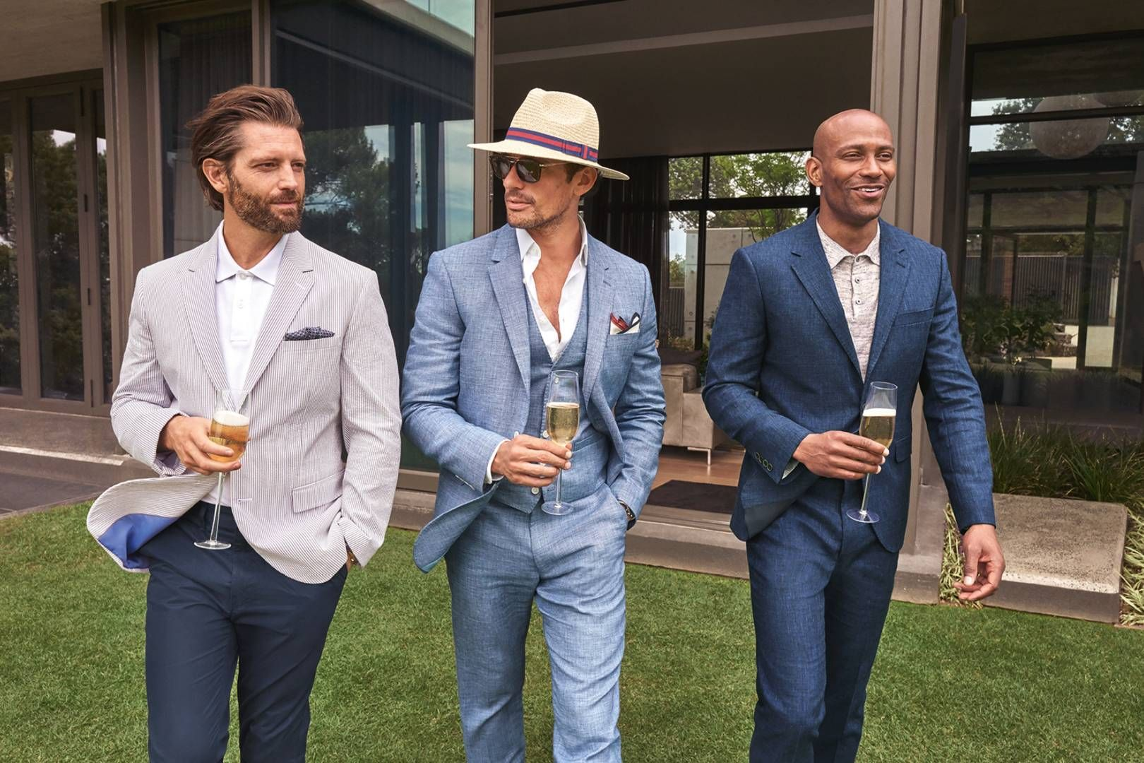 Learn How To Dress For A Wedding With David Gandy Weddingoutfitsformen Weddingoutfit Men Wedding Outfit Men Summer Wedding Attire Guest Wedding Attire Guest