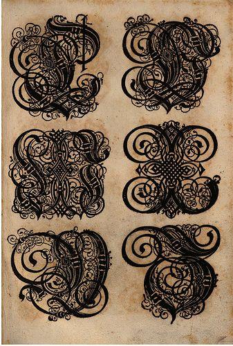 Paulus Franck - 'Schatzkammer Allerhand Versalien Lateinisch vnnd Teutsch', 1601 alphabet b by peacay, via Flickr