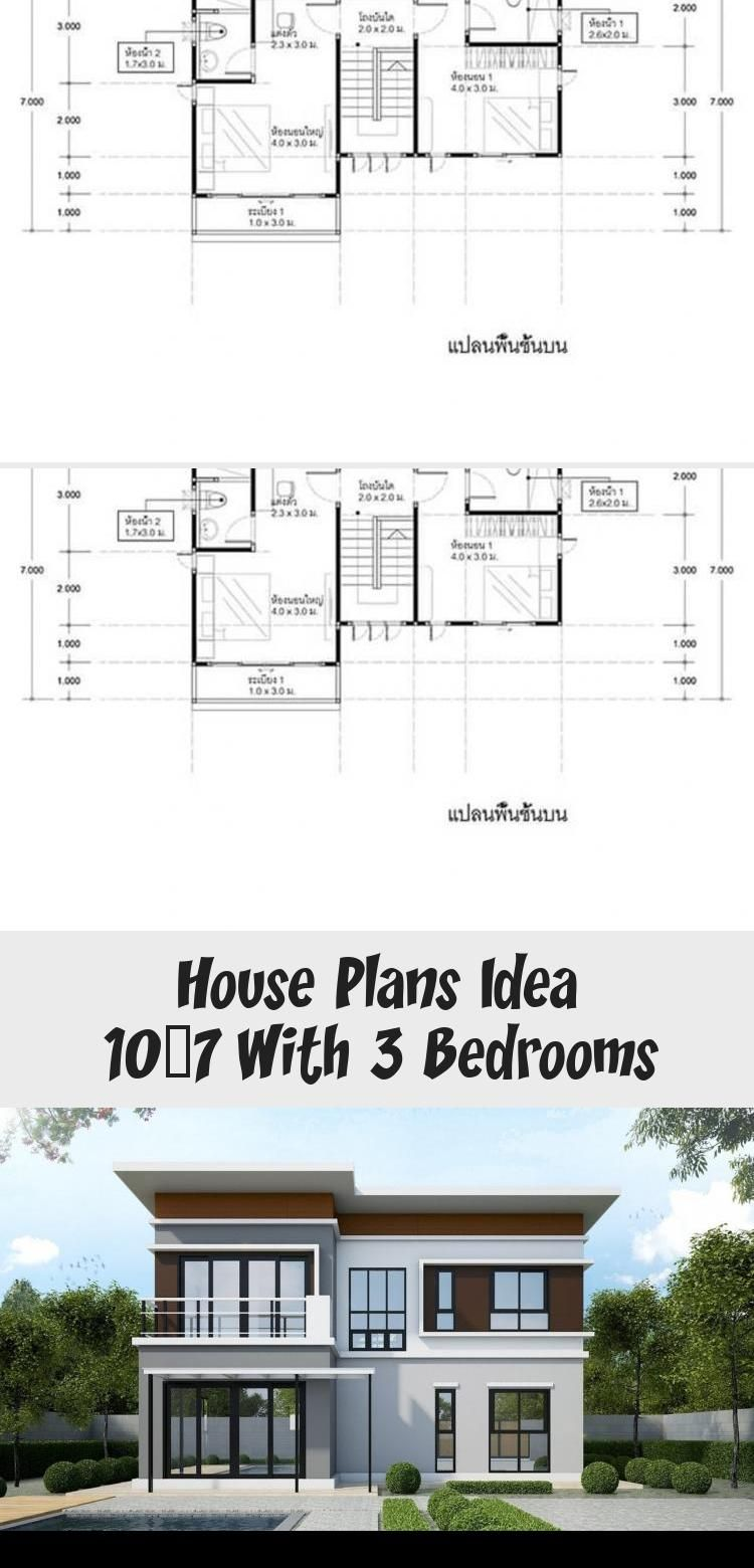House Plans Idea 10x7 With 3 Bedrooms Sam House Plans Lshapedmodernhouseplans Modernhouseplanssplit In 2020 House Plans Square House Plans House Plans South Africa