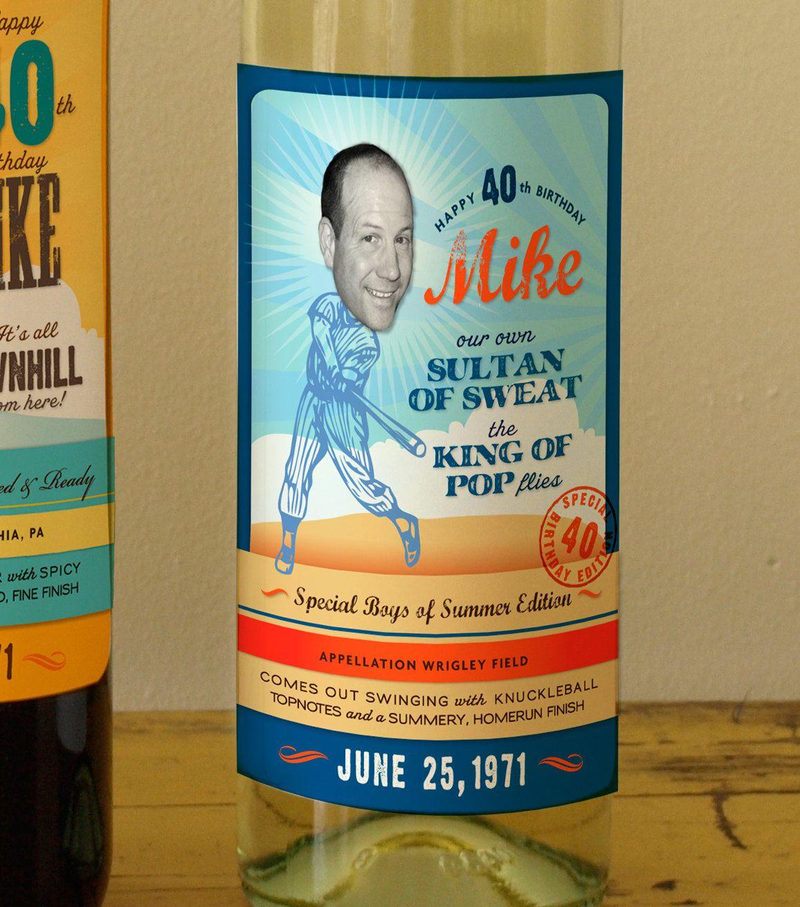 Custom Wine Labels for the Sporty Guys. $37.00, via Etsy.