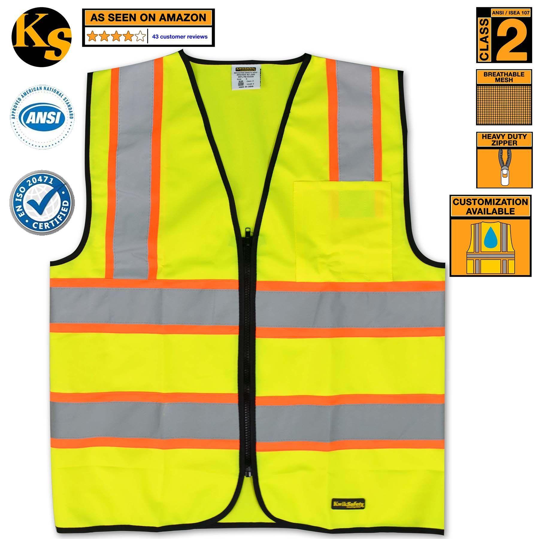 class 2 safety vest black