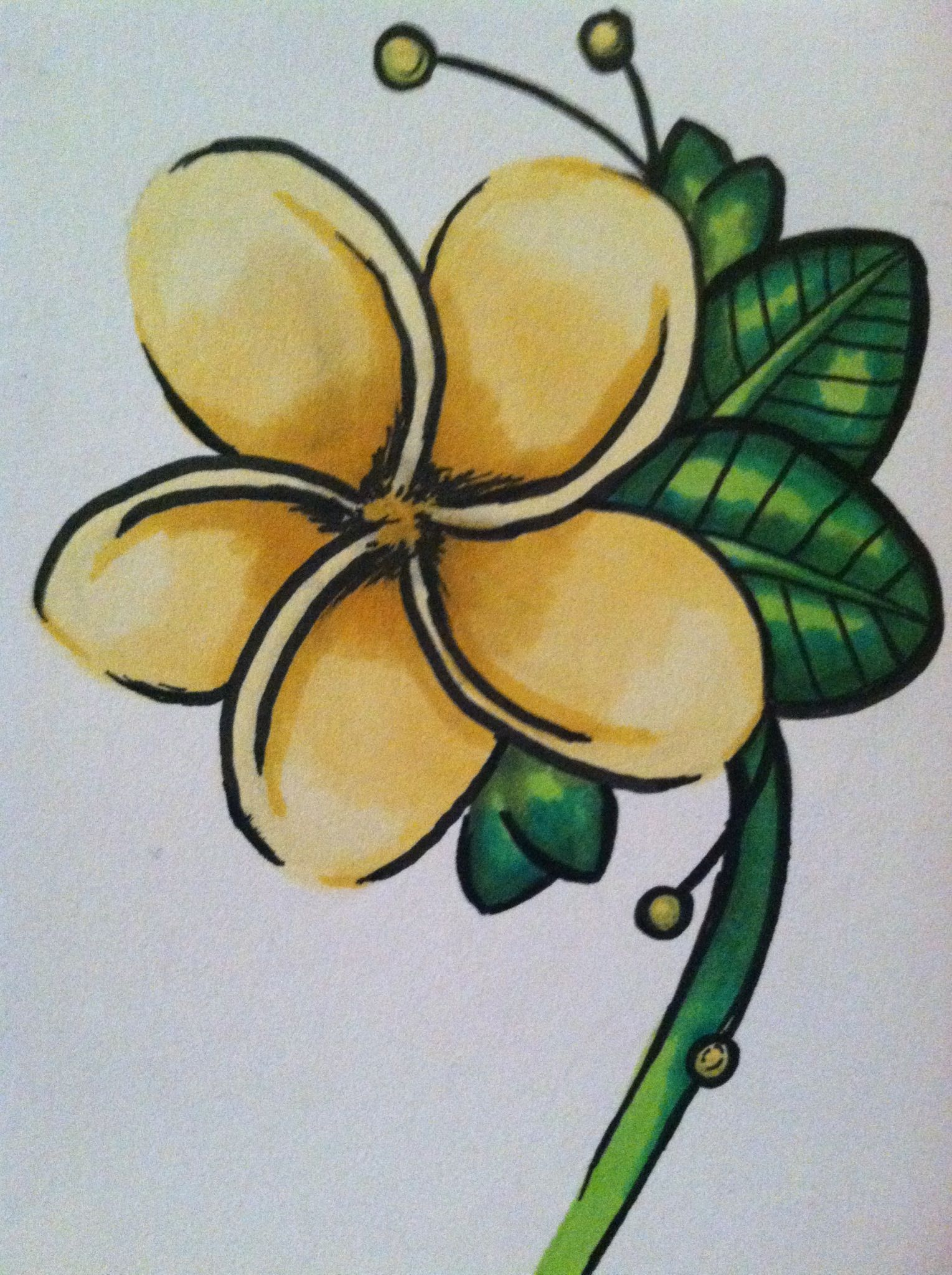 How to Color a Simple Leaves With Prismacolor Markers