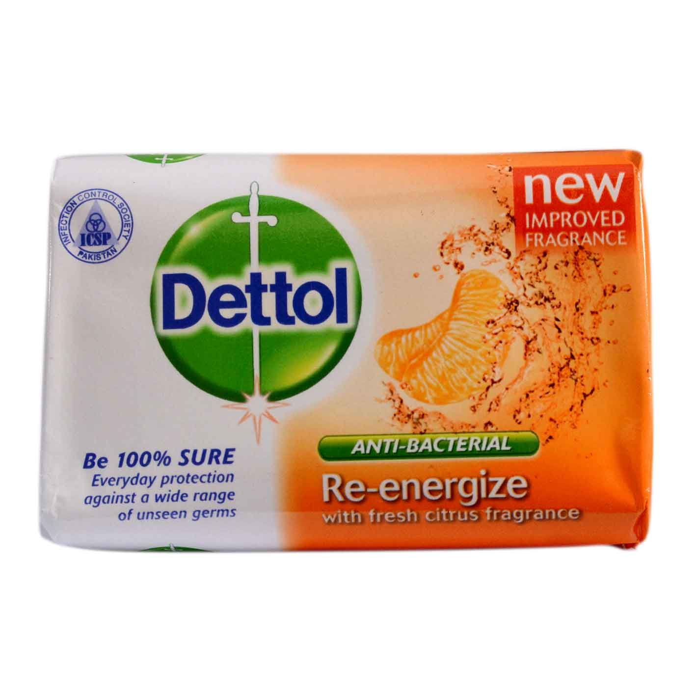 Dettol Re Energize Soap Quickneasy Citrus Fragrance Health