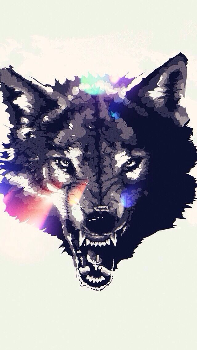 Wolf Iphone Wallpaper Angry Wolf Art Animal Art